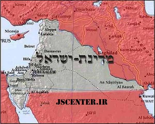 نقشه اسرائیل بزرگ طرح یینون