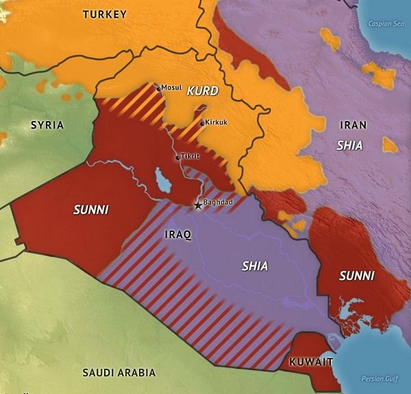 نقشه تجزیه عراق