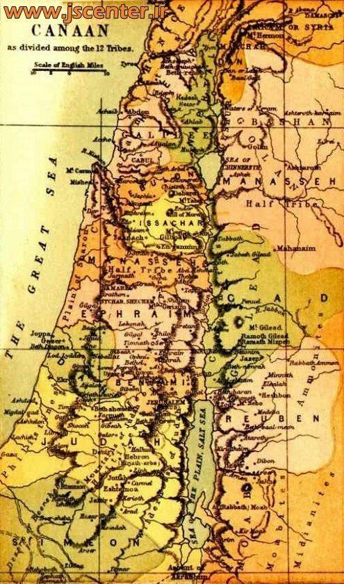 نقشه کنعان
