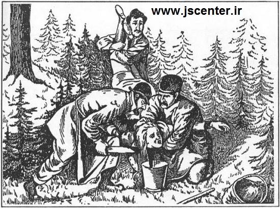 یهودیان در حال بریدن سر آجنیس هوروز