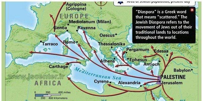 نقشه پراکندگی یهودیان