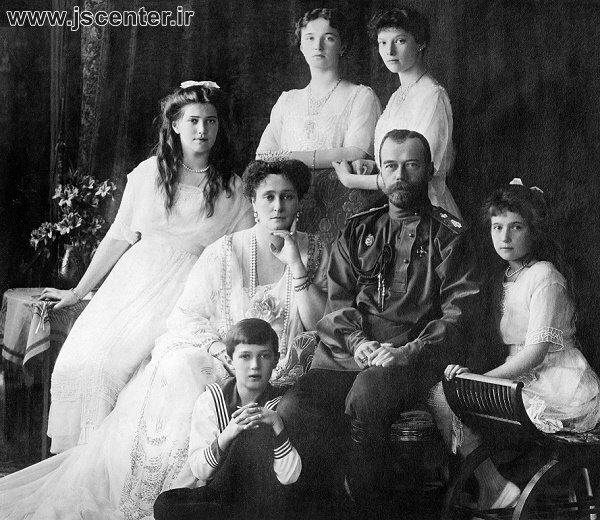 تزار نیکلای دوم و خانواده