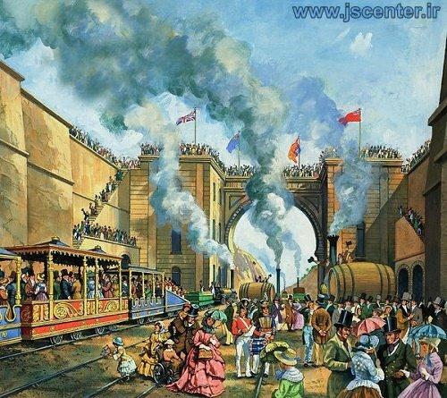 افتتاح خط آهن منچستر لیورپول