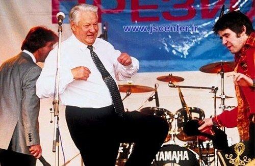 رقص یلتسین در انتخابات