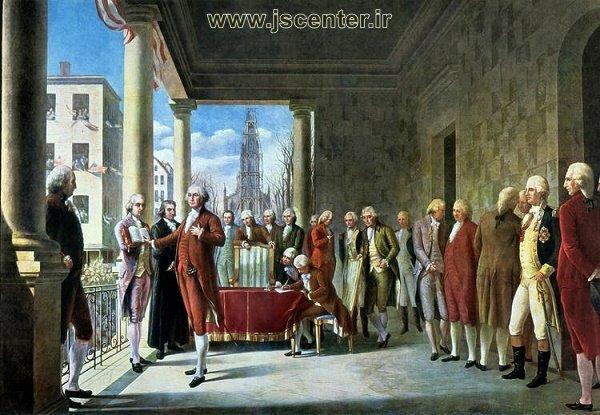 سوگند جرج واشنگتن در والاستریت