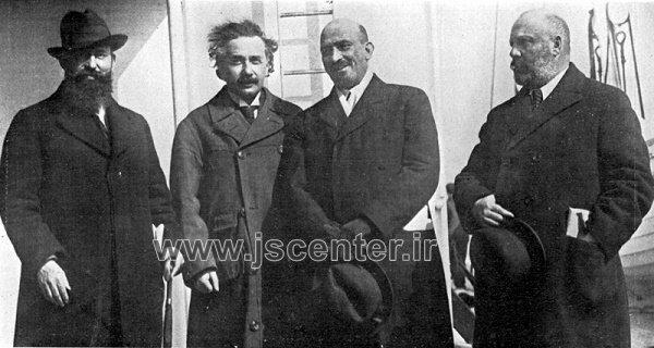 آلبرت انیشتین در کنگره جهانی صهیونیسم