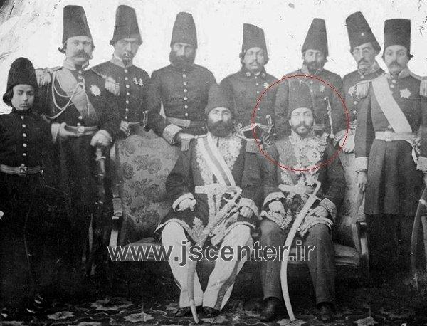 میرزا حسین خان سپهسالار و درباریان ناصرالدین شاه