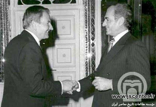 محمدرضا شاه و دیوید راکفلر