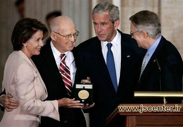 اعطای مدال طلای کنگره به نورمن بورلاگ