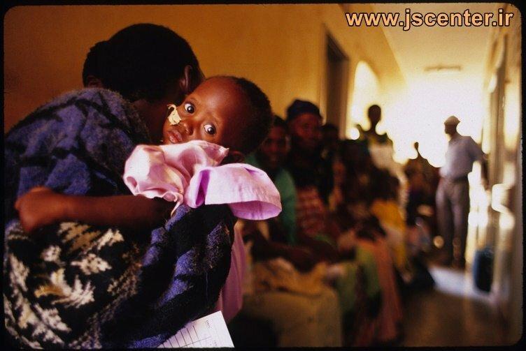 تصویر سایت راکفلر از واکسیناسیون در کنیا