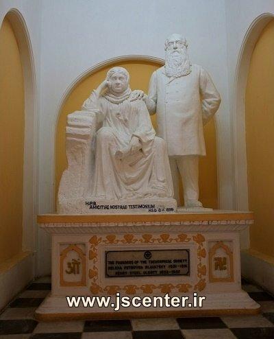 مجسمه کلنل الکات و مادام بلاواتسکی