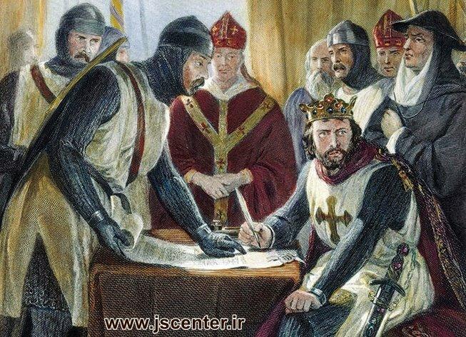 جان پادشاه انگلستان و امضای ماگنا کارتا