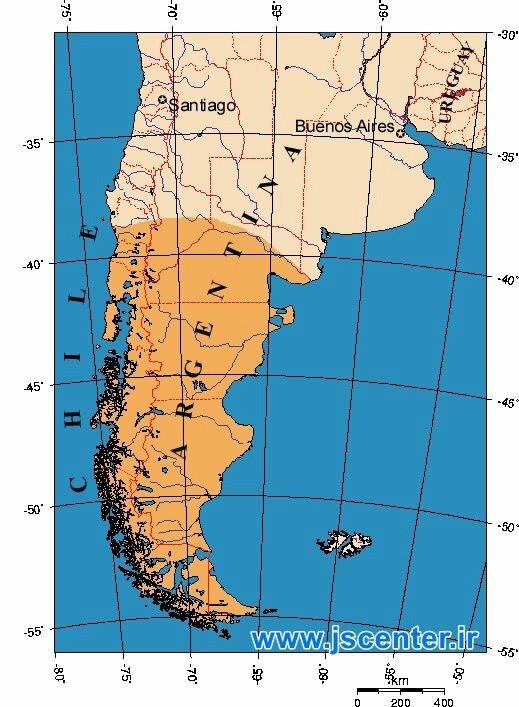 نقشه پاتاگونیا