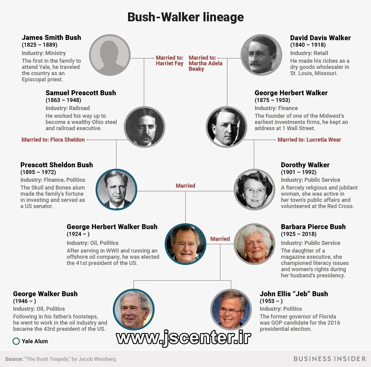 شجره خاندان بوش