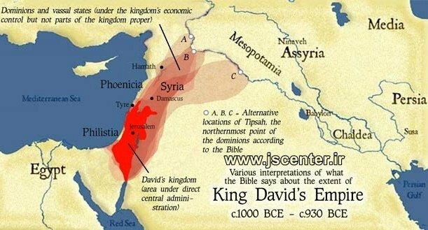قلمرو پادشاهی داوود طبق ادعای کتاب مقدس یهود