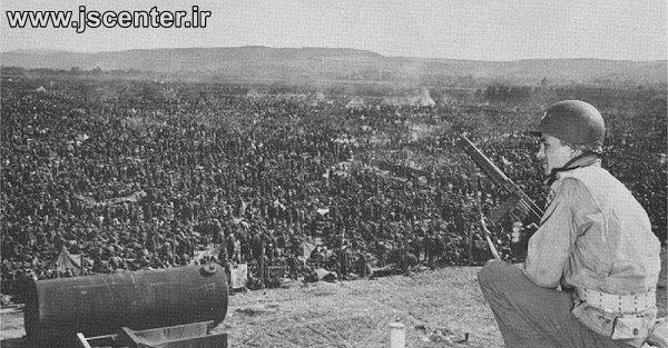 اسرای آلمانی اردوگاه اسرای جنگی راینویزنلاگر Rheinwiesenlager