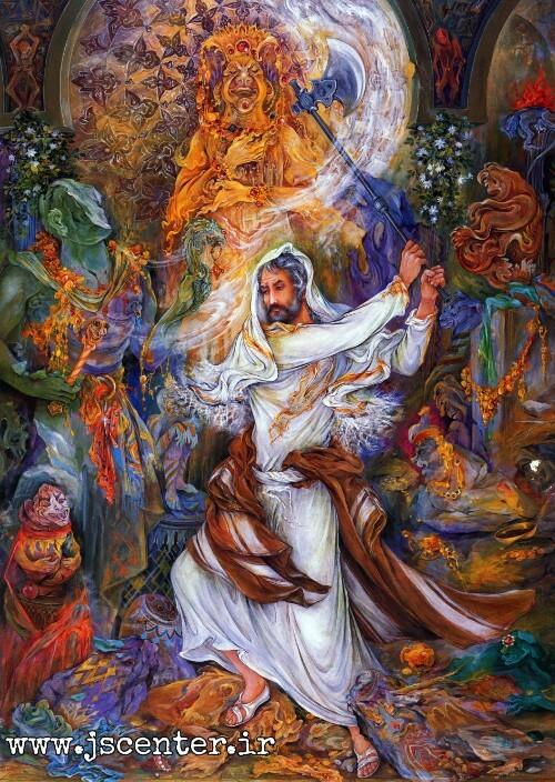 تابلو ابراهیم بت شکن فرشچیان