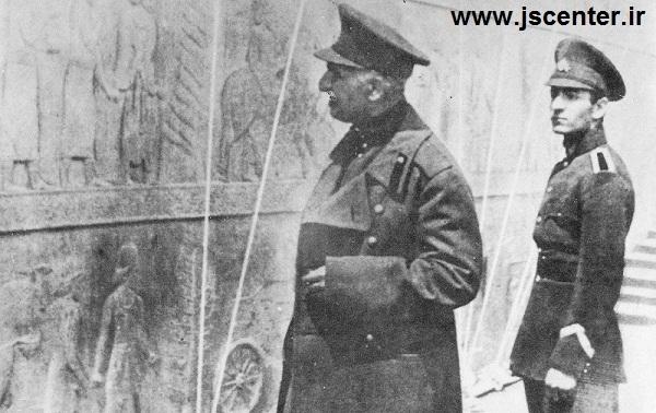 رضاخان و محمدرضا پهلوی در تخت جمشید