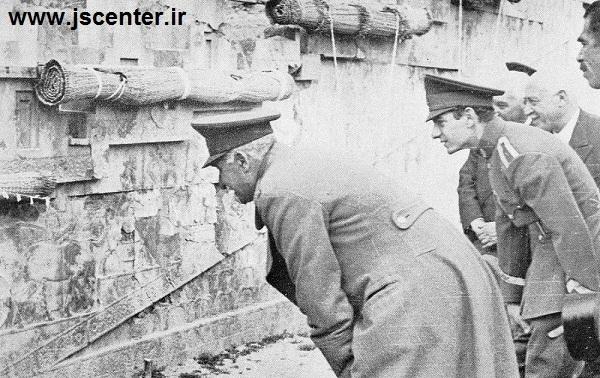رضاشاه و محمدرضا پهلوی در تخت جمشید