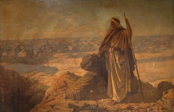 موسی روی کوه نبو
