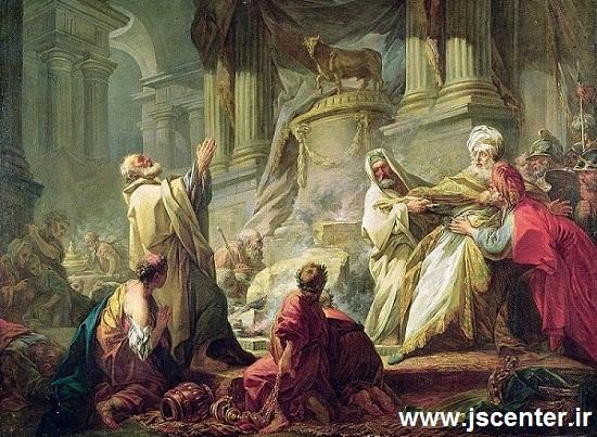 موسی و هارون در برابر سامری و گوساله طلایی