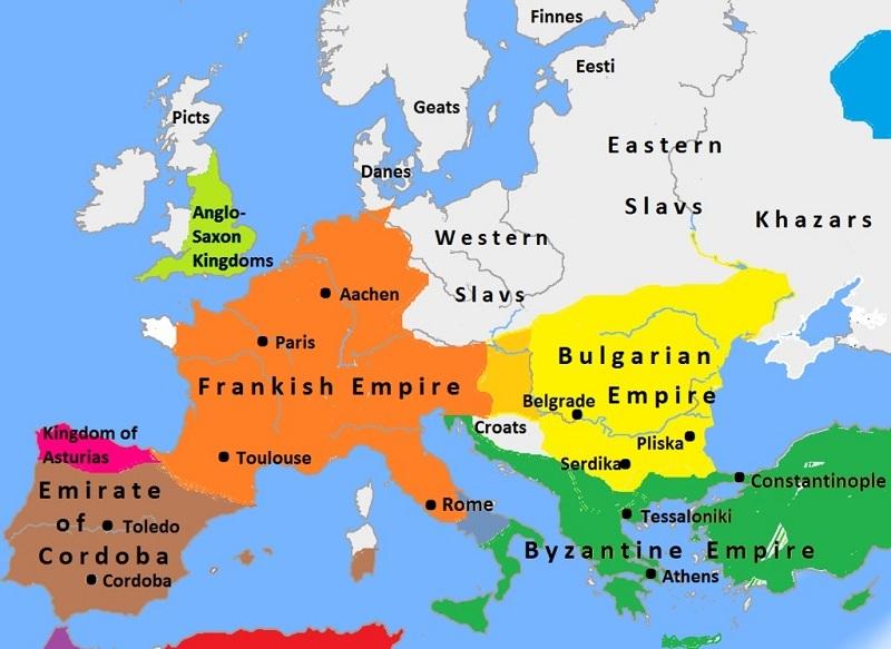 اروپا در ۸۱۴ میلادی