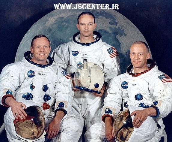 فضانوردان آپولو ۱۱ نیل آرمسترانگ مایکل کولینز باز آلدرین