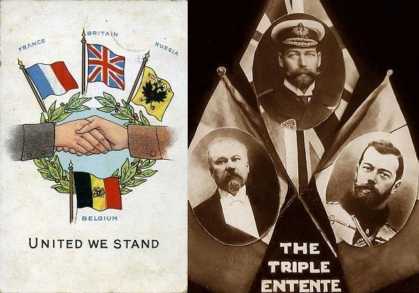 کشورهای اتفاق مثلث در جنگ جهانی اول