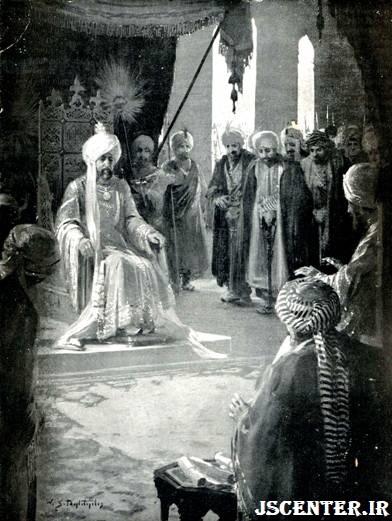 رأس الجالوت در محضر خلیفه