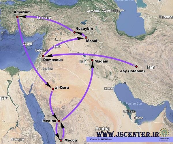 مسیر مهاجرت سلمان فارسی