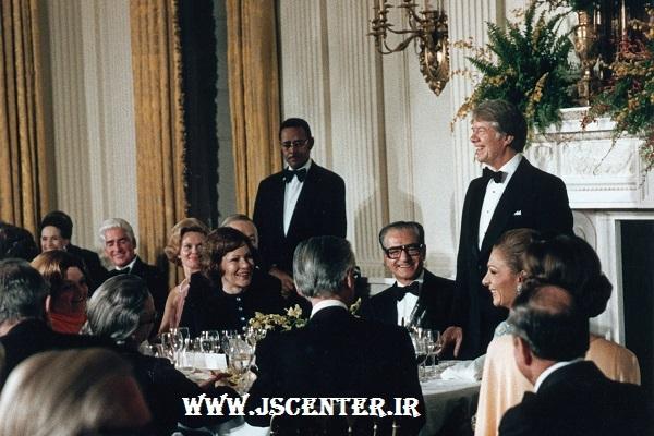 جیمی کارتر میزبان محمدرضا شاه در کاخ سفید