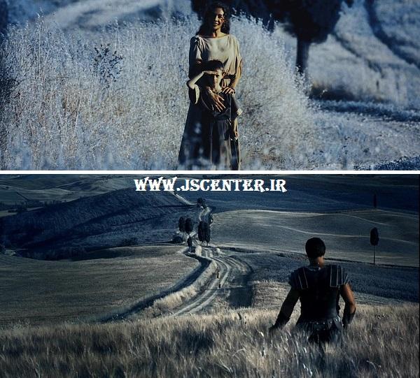 صحنه پایانی فیلم گلادیاتور در بهشت