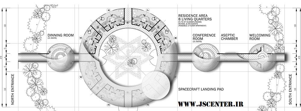 نقشه سفارتخانه الوهیم و موجودات فضایی