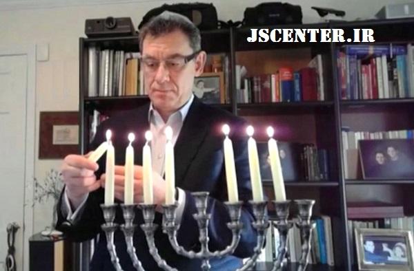 آلبرت بورلا در جشن حنوکا سفارت اسرائیل