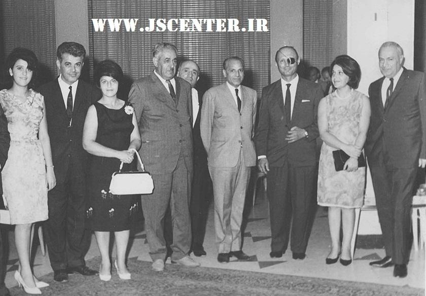 موشه دایان در مهمانی حبیبالله القانیان در تهران