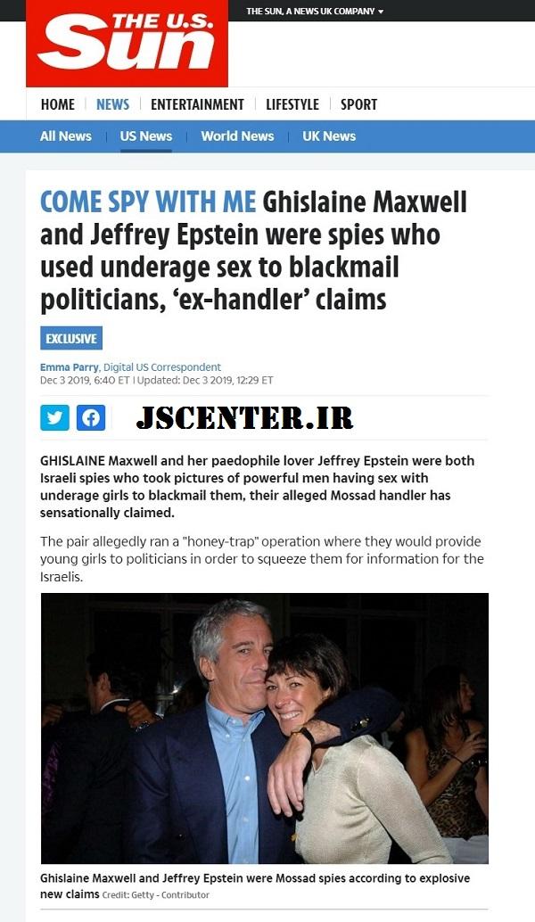 جاسوسی جفری اپستین و گیلین ماکسول از سیاستمداران