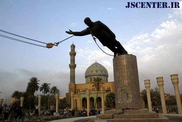 سرنگونی مجسمه صدام در میدان فردوس