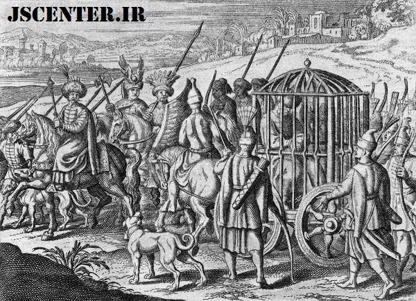 سلطان بایزید اول در قفس تیمور لنگ