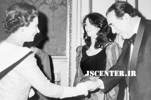 گیلین ماکسول و رابرت ماکسول و ملکه الیزابت