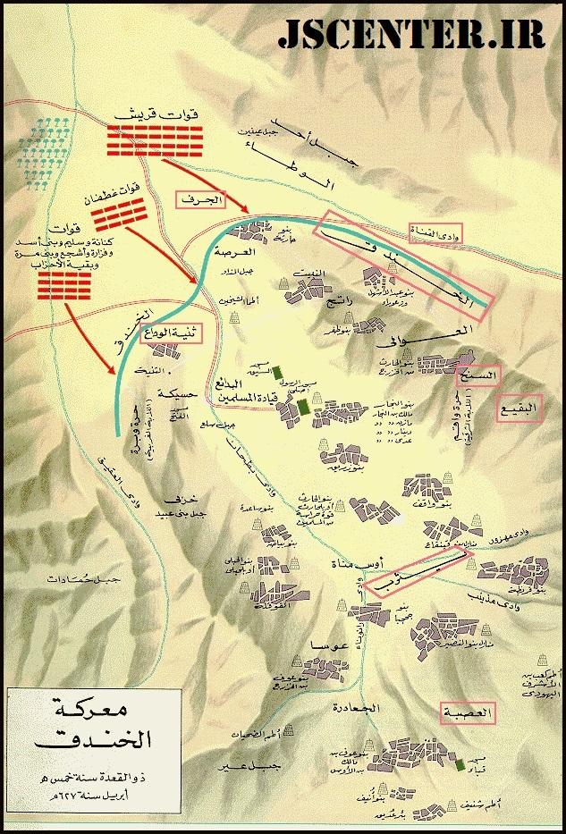 نقشه جنگ خندق