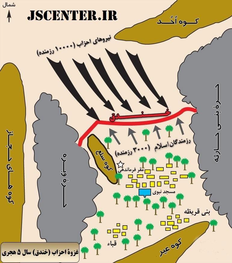 نقشه غزوه خندق
