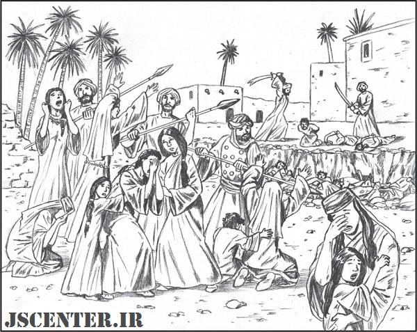 کشتار یهودیان بنیقریظه در حضور زنان و کودکان اسیر یهودی
