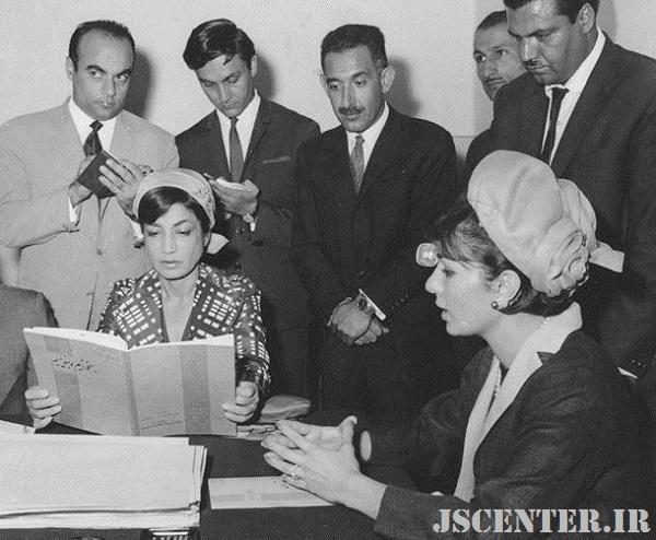بازدید فرح دیبا و اشرف پهلوی از انتشارات فرانکلین و سازمان چاپ افست