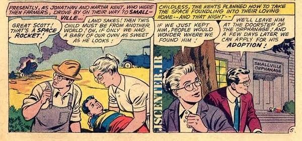 سوپرمن در کودکی با سفینه به زمین آمد